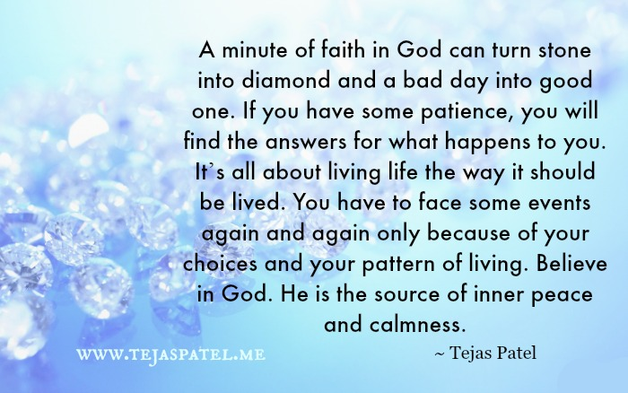 A minute of faith in God