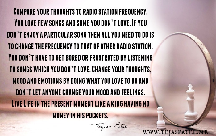 Compare your thoughts to radio station frequency
