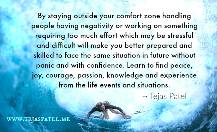 Staying outside your comfort zone