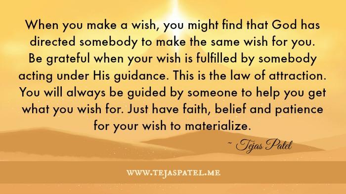 When you make a wish